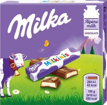 Упаковка шоколада Milka Milkinis с молочной начинкой 43.75 г х 20 шт (7622201403188)