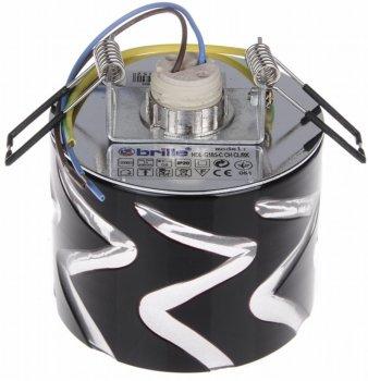 Світильник точковий Brille HDL-G185-C CH CL/BK (L13-018)