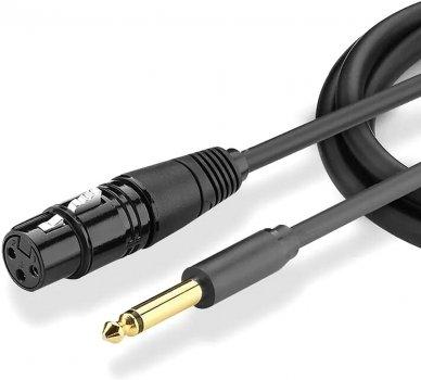 Мікрофонний кабель Ugreen AV131 Jack 6.3 мм to XLR Female AV Cable 3 м Black (90401984)