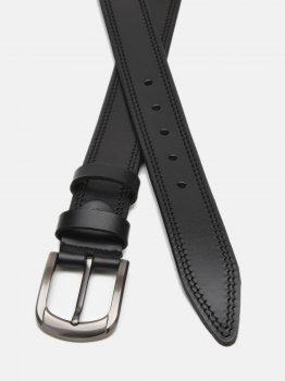 Мужской кожаный ремень Laras Cvgnn15-125 125 см Черный (ROZ6400018304)