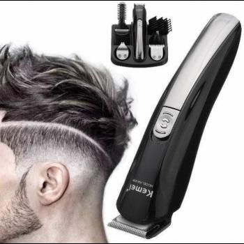 Машинка для стрижки волос, KEMEI KM-600 профессиональная 11 В 1 мультитриммер с подставкой (001249М)