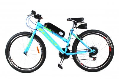 Електровелосипед Formula Woman 26 колесо 36В 350Вт 8Ач літій іонний акумулятор, синій