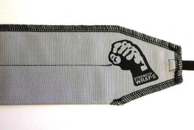 Кистевые бинты на запястье Strength Wraps Серо-черные (пара) для кроссфита