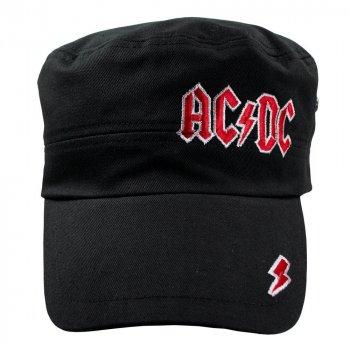 Кепка немка Talisman AC/DC Red Logo Черный (RC005)