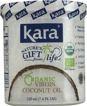 Кокосова олія Kara органічна холодного пресування 220 мл (8997212610184)