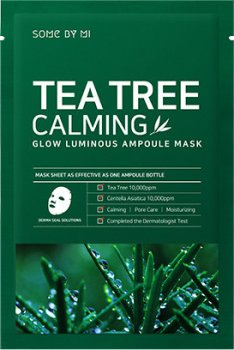 Успокаивающая ампульная маска с чайным деревом Some By Mi Tea Tree Calming Glow Luminous Ampoule Mask 25 г (8809647390022)