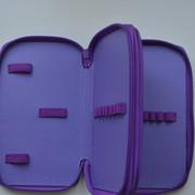 """Пенал CLASS """"Girl and Horse"""", 2 отделения, фиолетовый, без наполнения, 97260"""