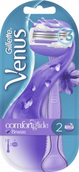 Станок для бритья женский (Бритва) Venus ComfortGlide Breeze с 2 сменными картриджами (7702018886272)