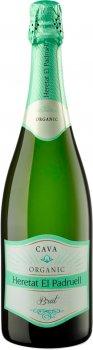 Вино ігристе Heretat el Padruell Cava Брют Еколоджик біле брют 0.75 л 11% (8411277207436)