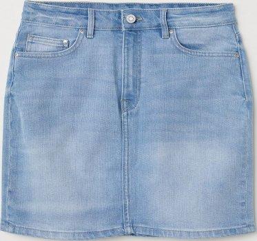 Спідниця джинсова H&M 0625768-8 Блакитна