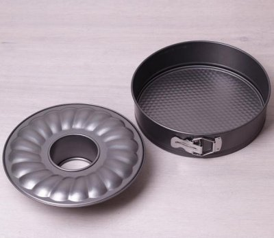 Форма для випічки Kamille Round Spring Ø26 см роз'ємна подвійна з антипригарним покриттям (KM-6022)