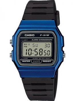 Чоловічі наручні годинники Casio F-91WM-2AEF