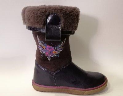 Зимние сапоги для девочки Bartek 717744/2 фиолетовые