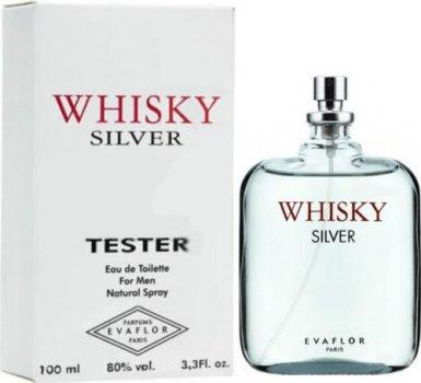 Тестер Туалетная вода для мужчин EVAFLOR Whisky Silver 100 мл