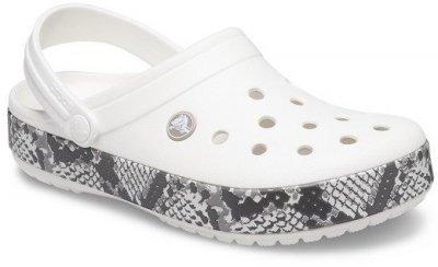 Сабо Crocs Women's Crocband Snake Print Clog 206380-13T Oyster/Mushroom