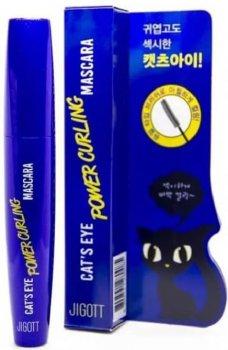 Підкручувальна туш для вій Jigott Cat's Eye Power Curling Mascara 12 г (8809541280085)
