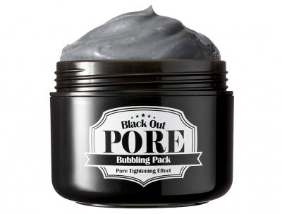 Кислородная маска на основе глины для очищения пор Secret Key Black Out Pore Bubbling Pack, 100г (8809305999345)