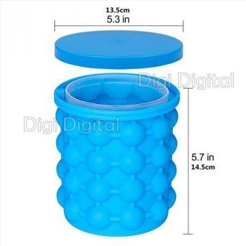 Емкость ведро для изготовления льда и охлаждения бутылки IceCool Силиконовая Голубое