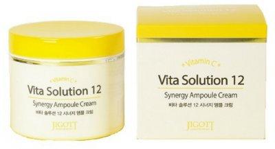 Тонизирующий ампульный крем для лица Jigott Vita Solution 12 Synergy Ampoule Cream 100 мл (8809541280719)