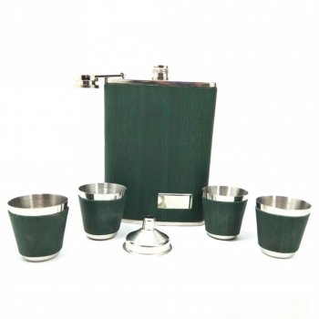 Набор фляга + 4 рюмки STENSON (R86711) Зеленый