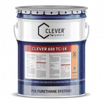 Сіре алифатическое фінішне покриття Clever Polymers PU 650 TC (4 кг)