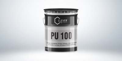 Однокомпонентна поліуретанова гідроізоляція Clever Polymers PU BASE 100 сіра 25 кг.
