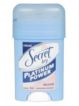 Кремовый антиперспирант Secret Key Platinum Power Delicate 40 мл (5000174999839)