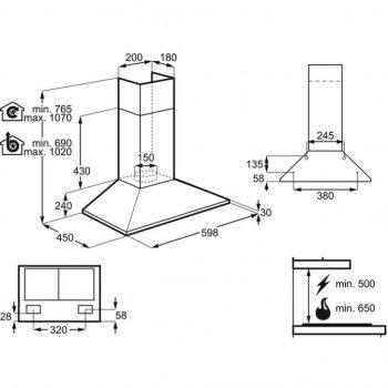 Витяжка кухонна ELECTROLUX EFC226V