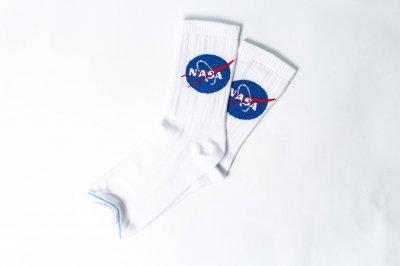 Мужские носки LOMM Premium NASA белые