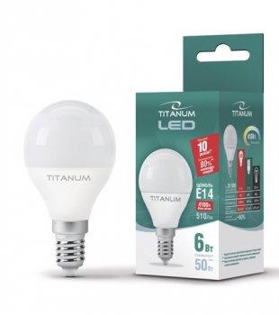 Лампа Titanum LED G45 6W E14 4100K 220V (11671695)
