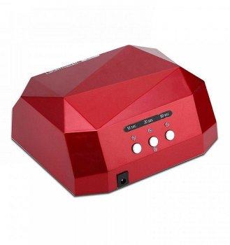 Гибридная сенсорная лампа Diamond Led+Ccfl для маникюра 36Вт burgundy (bks_01959)