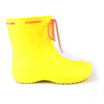 Сапоги женские резиновые EVA Jose Amorales с шнуровкой Желтый