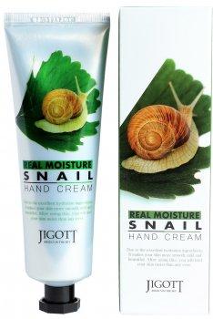 Крем для рук Jigott Real Moisture Snail Hand Cream с экстрактом слизи улитки 100 мл (8809541280764)