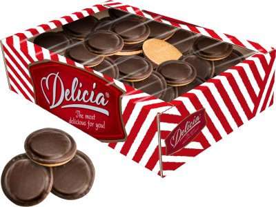 Печенье сдобное Делиция Сбивное со вкусом капучино 500 г (4823102502434)