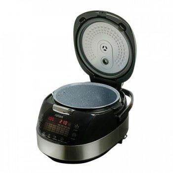 Мультиварка кераміка мармур 25 програм Rotex RMC535-W Smoke Master 860 Вт Копчення Мультиповар пароварка хлібопічка чаша з ручками книга рецептів