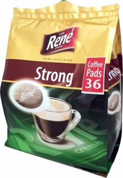 Кофе молотый в чалдах Rene Strong 36 шт для кофемашин Philips Senseo