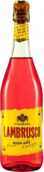 Вино игристое Sizarini Lambrusco розовое сухое 0.75 л 10.5% (8004810976489)