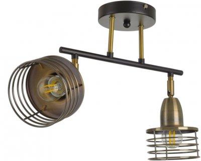 Світильник спотовий Brille HTL-212/2 E27 AB/CH (29-230)