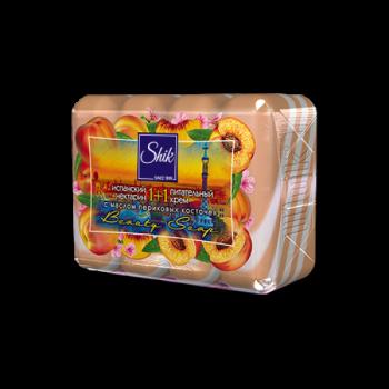 Мыло туалетное твердое Шик 1+1 Beauty с испанским нектарином, питательным кремом и маслом персиковых косточек 4 шт х 90 г