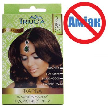 Фарба для волосся Triuga Мокко на основі хни 25 г