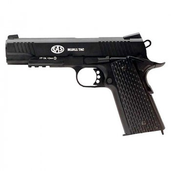 Пістолет пневматичний SAS (M1911 Tactical) Blowback. Корпус - метал (2370.14.29)