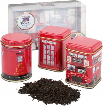 Набор черного чая Ahmad Tea City Of London Caddies 3 х 25 г (54881010634)