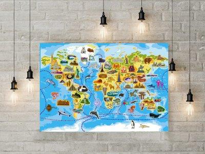 Настільна гра Умняшка Цікавий світ з багаторазовими наклейками 83 шт. (укр) (КП-006) (4820129201302)