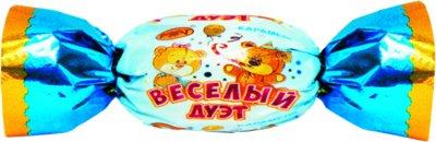 Карамель Рахат молочно-ореховая Веселый дуэт 1 кг (4870036006088)