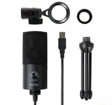 Мікрофон FIFINE K669B чорний, USB конденсаторний