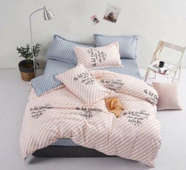 Комплект постельного белья Stella Prima Микросатин 180x220 Голубой с пудровым (SP-1025 Md)