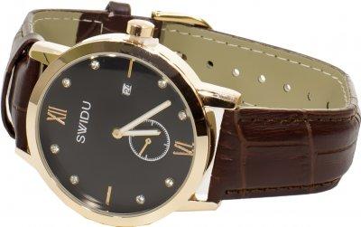 Часы наручные мужские кварцевый SWIDU SWI-018 Brown + Black (FKT-3088-8708)