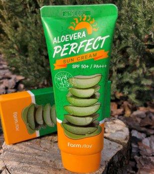 Солнцезащитный крем для лица и тела FarmStay Aloevera Perfect Sun Cream Spf50+/pa+++ 70 мл