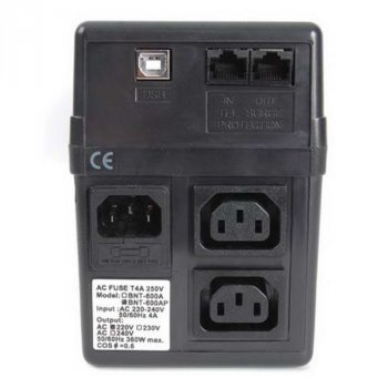 ББЖ Powercom BNT-400AP Schuko, 1 х EURO, 2 х IEC, USB (00210086)