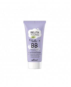 Матт крем для лица Белита Young Skin Эксперт матовости кожи для нормальной и жирной кожи универсальный тон 30 мл (4899151027148)